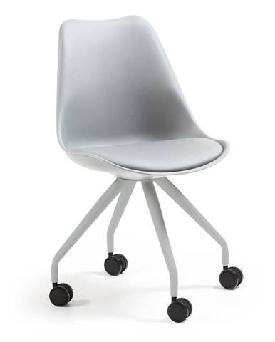 Sivá kancelárska stolička La Forma Lars