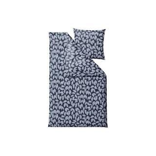 Modré obliečky na jednolôžko z bavlneného saténu Södahl Benjamina, 140 x 200 cm