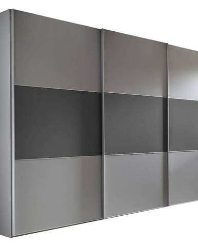 Moderano SKRIŇA S POS. DVER. – HOR.VED., sivá, tmavosivá, 280/222/68 cm - sivá, tmavosivá