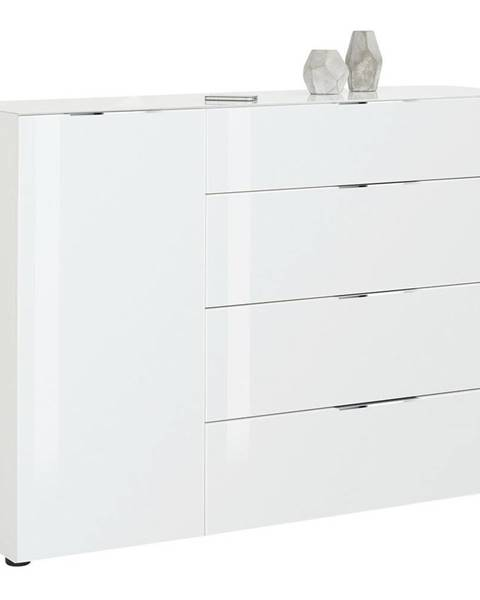 Novel Novel KOMODA HIGHBOARD, biela, 136/100/40 cm - biela