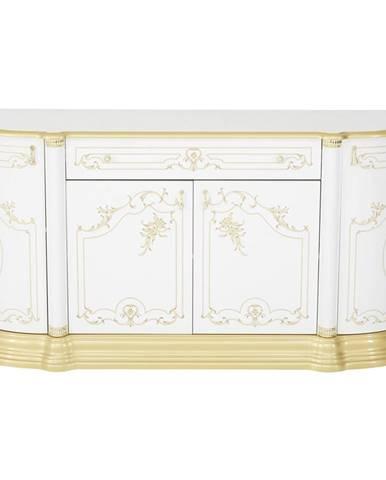 Cantus KOMODA SIDEBOARD, biela, zlatá, 186/87/54 cm - biela, zlatá