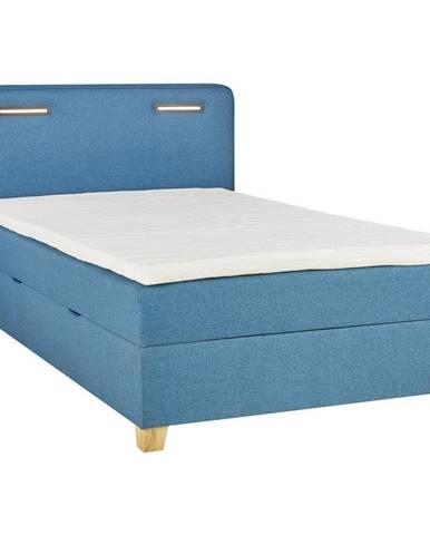 Moderano POSTEĽ BOX, 120/200 cm, textil, kompozitné drevo, tyrkysová - tyrkysová