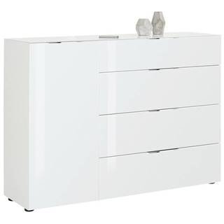 Novel KOMODA HIGHBOARD, biela, 136/100/40 cm - biela