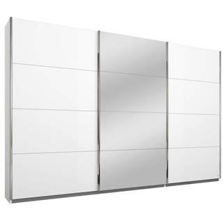 Xora SKRIŇA S POSUVNÝMI DVERAMI, biela, 271/210/62 cm - biela