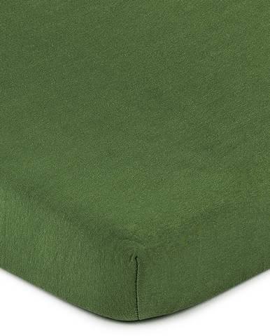 4Home jersey prestieradlo olivovozelená, 90 x 200 cm