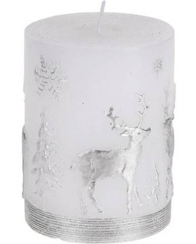 Vianočná sviečka Strieborný sob, 9 cm