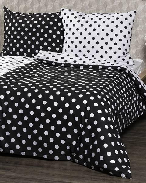 4Home 4Home Bavlnené obliečky Čierna bodka, 140 x 200 cm, 70 x 90 cm