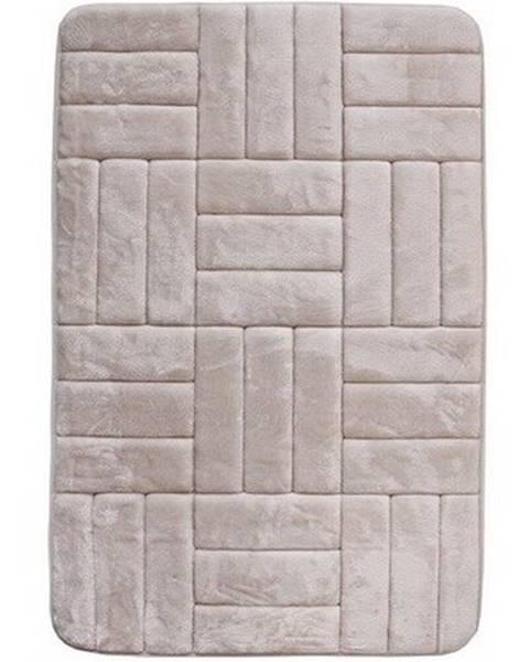 Altom VOPI Kúpeľňová predložka s pamäťovou penou Štvorce krémová, 50 x 80 cm