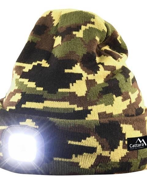 Cattara Cattara Čiapka s LED svietidlom Army, zelená