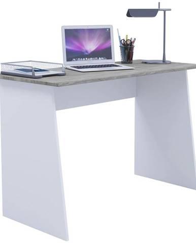 Písací Stôl Masola Maxi 110cm Biela/dub