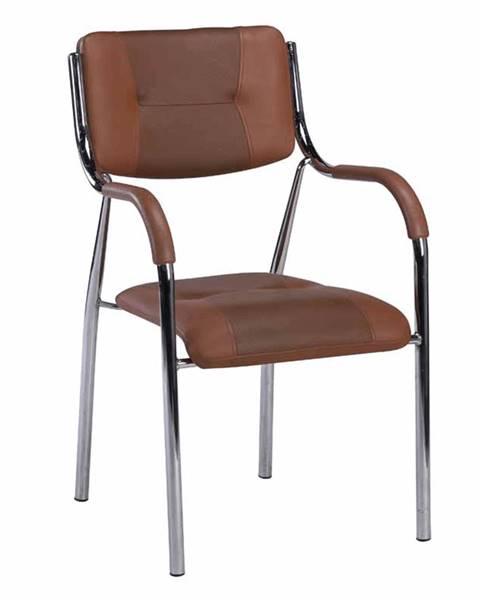 Kondela Stohovateľná stolička hnedá ILHAM