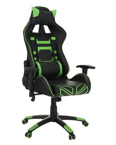 Kancelárske/herné kreslo čierna/zelená BILGI