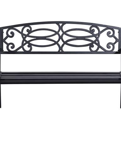 Záhradná lavička čierna VENDA