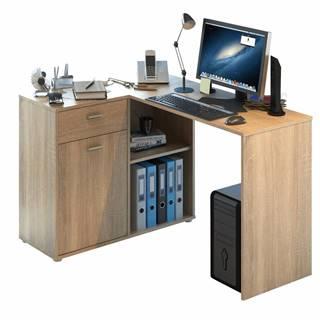 Rohový PC stôl dub sonoma KALIMERO