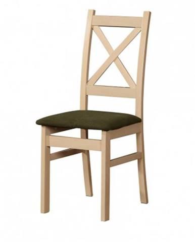 Jedálenská stolička Kasper dub sonoma, hnedá