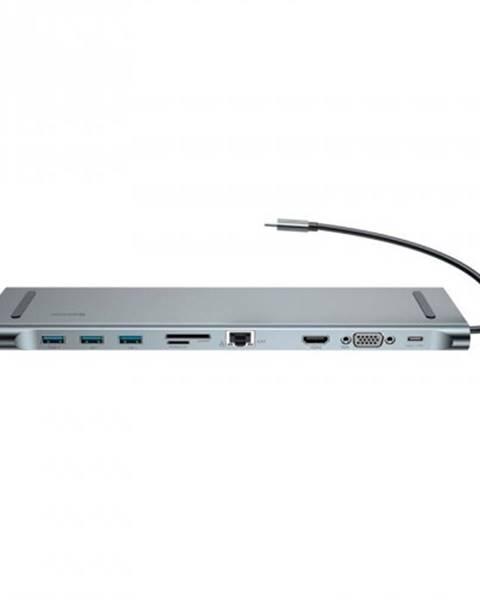 Baseus Dokovacia stanica Baseus Enjoyment Series USB-C adaptér, šedá