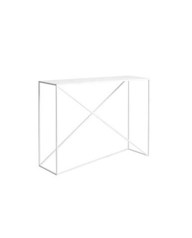 Biely konzolový stolík Custom Form Memo
