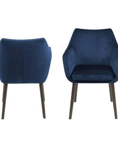 Modrá jedálenská stolička Actona Nora