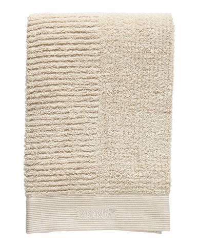 Béžová bavlnená osuška Zone Classic, 140 x 70 cm