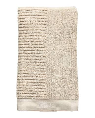 Béžový bavlnený uterák Zone Classic, 100 x 50 cm