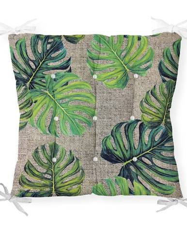 Sedák na stoličku Minimalist Cushion Covers Green Banana Leaves, 40 x 40 cm
