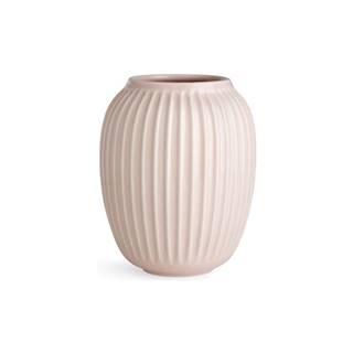 Svetloružová kameninová váza Kähler Design Hammershoi, výška 20 cm