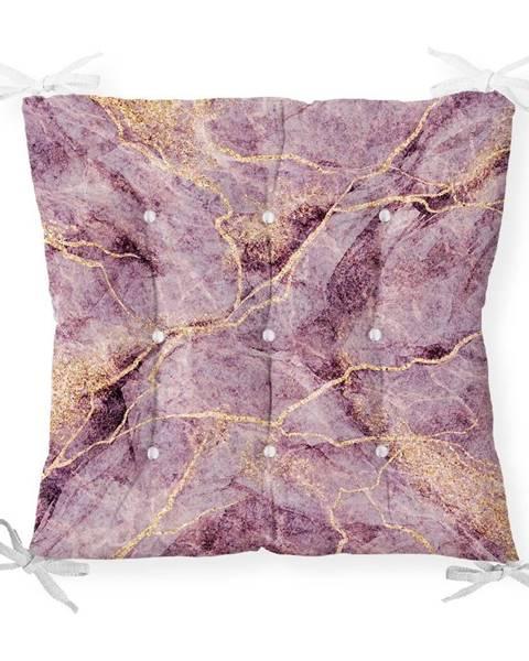 Minimalist Cushion Covers Sedák s prímesou bavlny Minimalist Cushion Covers Lila Marble, 40 x 40 cm