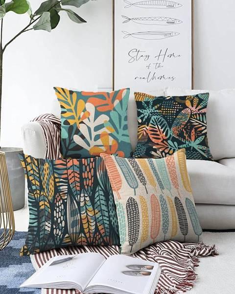 Minimalist Cushion Covers Súprava 4 obliečok na vankúše Minimalist Cushion Covers Colorful, 55 x 55 cm
