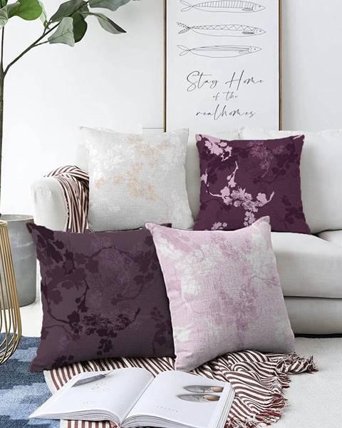 Minimalist Cushion Covers Súprava 4 obliečok na vankúše Minimalist Cushion Covers Donna, 55 x 55 cm