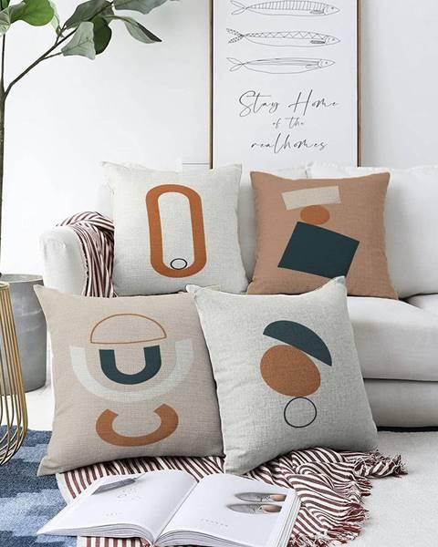 Minimalist Cushion Covers Súprava 4 obliečok na vankúše Minimalist Cushion Covers Luka, 55 x 55 cm