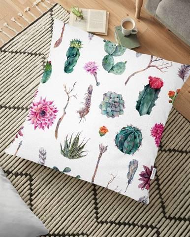 Obliečka na vankúš s prímesou bavlny Minimalist Cushion Covers Succulent, 70 x 70 cm