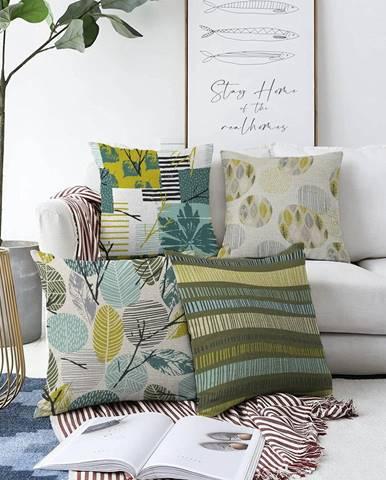 Súprava 4 obliečok na vankúše Minimalist Cushion Covers Amoro, 55 x 55 cm