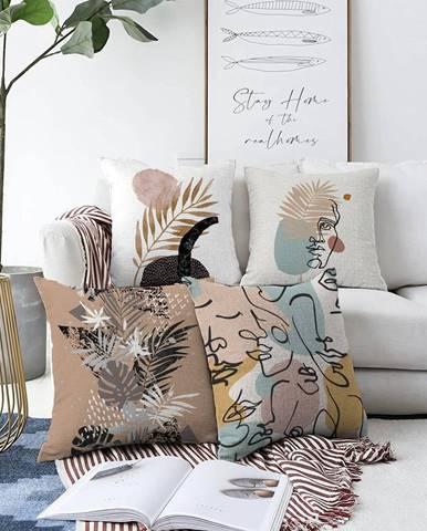 Súprava 4 obliečok na vankúše Minimalist Cushion Covers Autumn, 55 x 55 cm