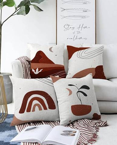 Súprava 4 obliečok na vankúše Minimalist Cushion Covers Egypt, 55 x 55 cm