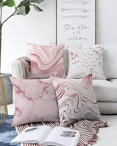 Súprava 4 obliečok na vankúše Minimalist Cushion Covers Jude, 55 x 55 cm