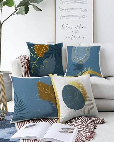 Súprava 4 obliečok na vankúše Minimalist Cushion Covers Magical Night, 55 x 55 cm