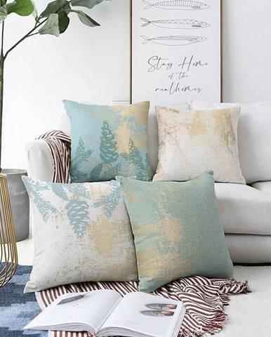 Súprava 4 obliečok na vankúše Minimalist Cushion Covers Sparkle, 55 x 55 cm