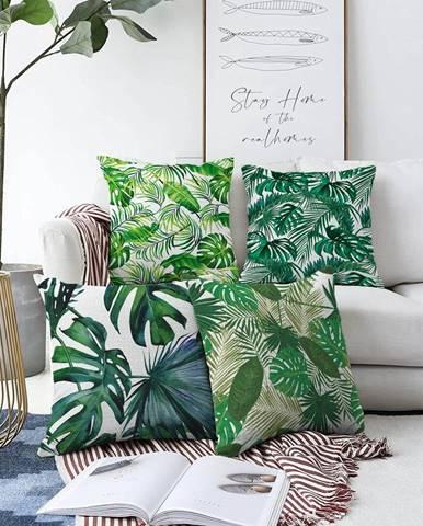 Súprava 4 obliečok na vankúše Minimalist Cushion Covers Summer Jungle, 55 x 55 cm