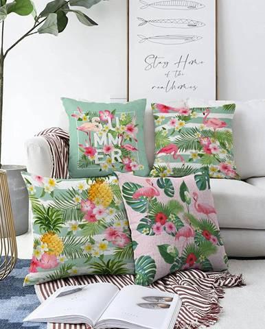 Súprava 4 obliečok na vankúše Minimalist Cushion Covers Summer Vibes, 55 x 55 cm
