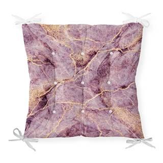 Sedák s prímesou bavlny Minimalist Cushion Covers Lila Marble, 40 x 40 cm