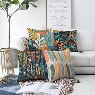 Súprava 4 obliečok na vankúše Minimalist Cushion Covers Colorful, 55 x 55 cm
