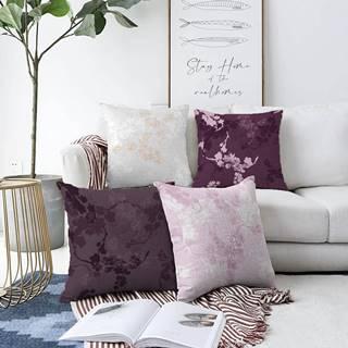 Súprava 4 obliečok na vankúše Minimalist Cushion Covers Donna, 55 x 55 cm