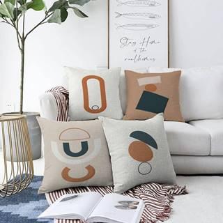 Súprava 4 obliečok na vankúše Minimalist Cushion Covers Luka, 55 x 55 cm