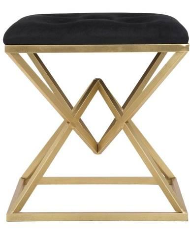 Stolička v čierno-zlatej farbe Mauro Ferretti Piramid
