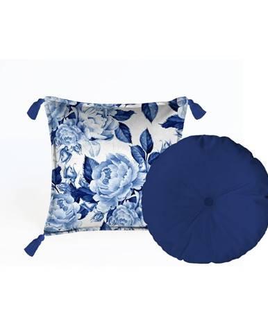 Sada 2 dekoratívnych vankúšov Velvet Atelier Flowers, 45×45cm