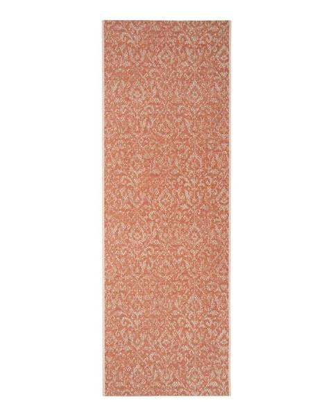 Bougari Oranžovo-béžový vonkajší koberec Bougari Hatta, 70 x 200 cm
