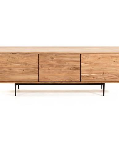 Svetlohnedý TV stolík La Forma Delsie, 147 x 50 cm