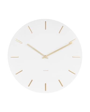 Biele nástenné hodiny Karlsson Charm