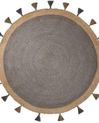 Sivý jutový koberec Flair Rugs Istanbul, ⌀ 150 cm