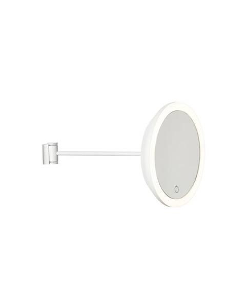 Zone Biele nástenné kozmetické zrkadlo Zone Eve, ø 17,5 cm